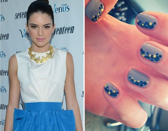 Nail Art -- Celebrity TwitPics {out of all of them, busy Philips nails were my favorite! Must do them like that!}