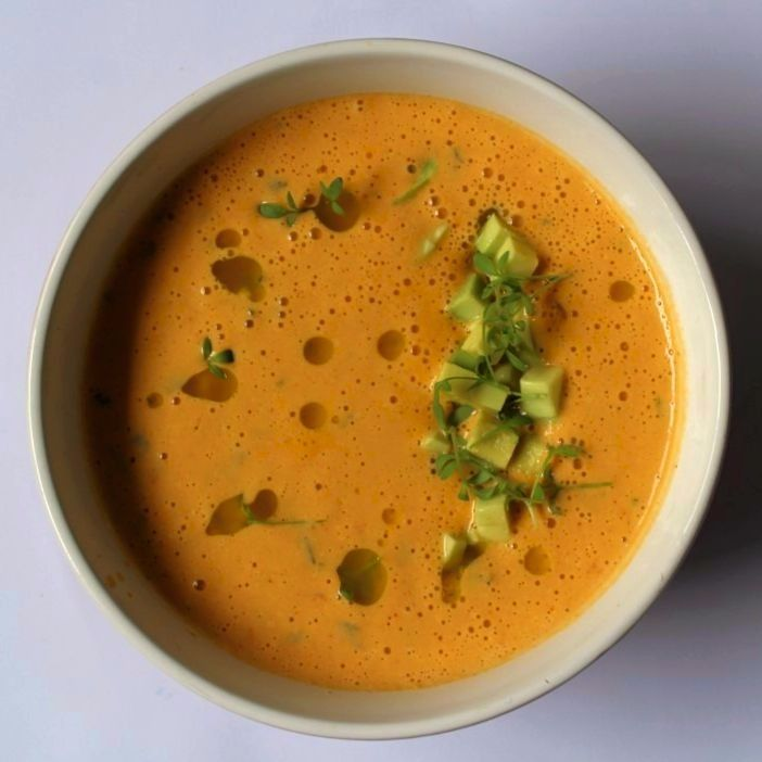 Bahian Soup.  An amazingly refreshing soup as part of my coursework for Plantlab Culinary