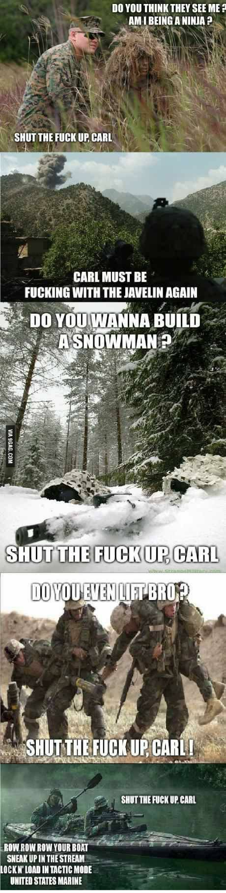b8a2690ad493b9984a9ac74e5f23a07b carl meme military memes 43 best shut the f*** up carl! images on pinterest funny stuff