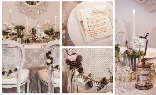 Shabby nordico. Flower design Elena Nacci scuola Floristil, Wedding Planner Valeria Isidori e Felicia Viscito