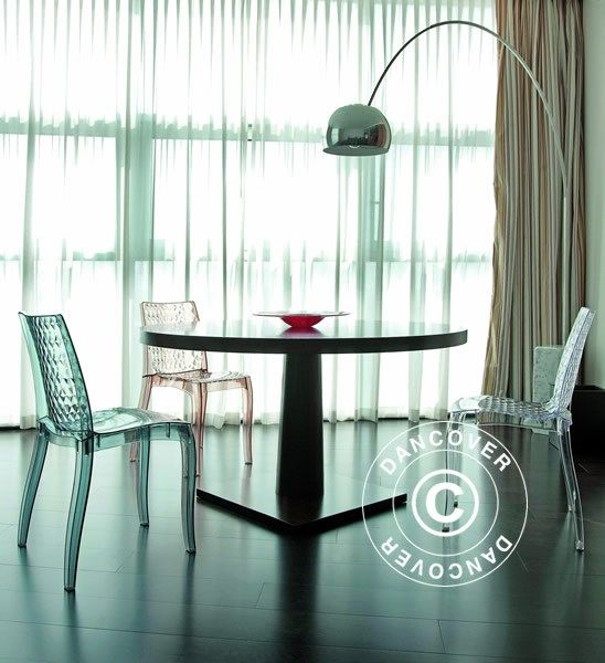 Chair, Hypnotic, 50x54x84 cm, Clear Smoked, 6 pcs.