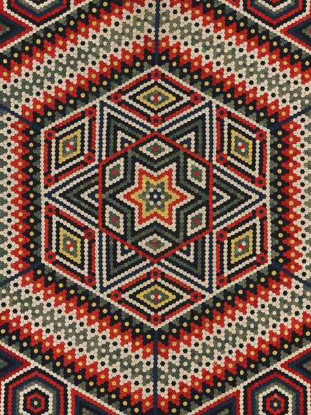 Pierced wool military quilt by Francis Brayley, India, ca. 1864-77 l Victoria and Albert Museum #quilting