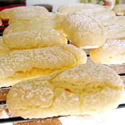 Sponge Fingers. These would be great for trifles, tiramisu or on their own.