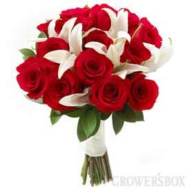red and white wedding flowers collection - growers box    make everything for you, between 300 and 1200