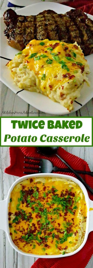 With just a few simple ingredients, you can create an amazing and delicious side dish. Twice Baked Potato Casserole has all the flavors of a twice baked potato in a flavorful side dish casserole. #SundaySupper