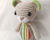 Items similar to Crochet Teddy Bear, Amigurumi Soft Toy, Personalised Teddy Bear Toy on Etsy