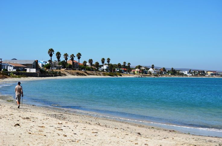 """Walking or strolling on Saldanha beach (part of the Langebaan lagoon) towards Bluewater Bay suburb - and there are more than enough """"beach space"""" for that! #Saldanha #beach #BluewaterBay #BlouwaterBay #beachwalking #Langebaanlagoon"""