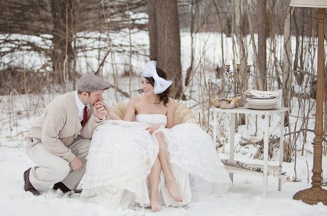 NOVIA FLEUR: Svatba v zimě...
