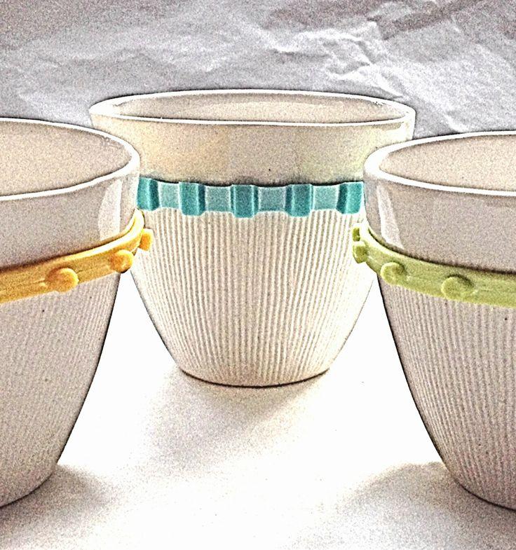 Porcelain espresso cups. Pamela Schroeder for Aboda     www.aboda.co.za