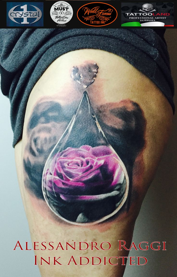 macro pic, teardrop, roses, color, realistic by Alessandro Raggi