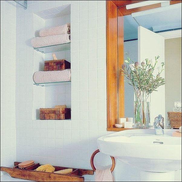 Handtuchaufbewahrung 24 Ideen Fur Ein Badezimmer Bad Deko Bad Badezim Handtuchaufbewahrung Bathroom Decor Pastel Interior Design Pastel Interior