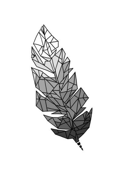 Geometric Feather Art Print #illustration