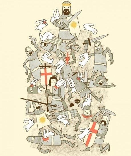 Killer rabbit from Monty Python