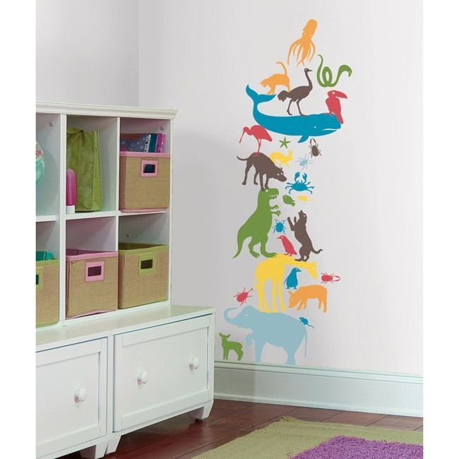 Roommates Kids Lab - Animal Tower Giant Wall Decal