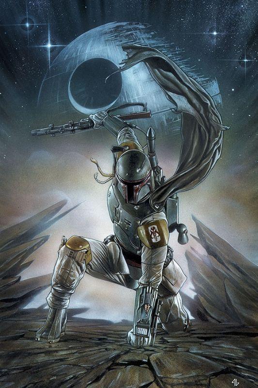 Star Wars #1 portada variante por Adi Granov. Por eso uno alucina con los personajes gracias a estos hermosos trabajos.