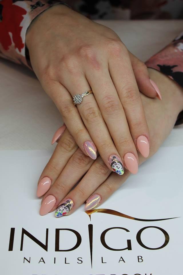 Sweety Gel Polish + NailArt Gel by Renata Bartosik Indigo Young Team #nails #nail #indigo #nude #pink #powder #amazing #wow