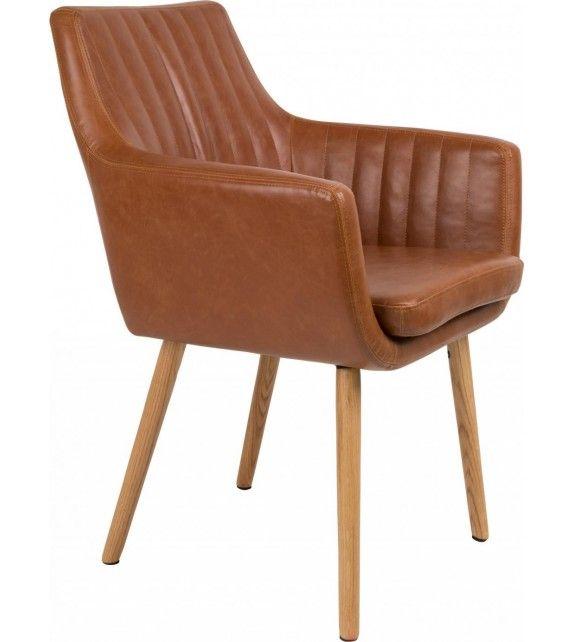 Fauteuil en simili cuir vintage inspiration années 60 avec capitonnage ultra confortable #leathercraft #leathergoods #fashion #style #armchair #fauteuil #chaise #chair #brun #marron #cuir