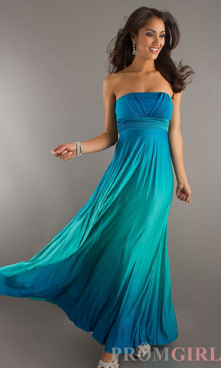 12 best bridesmaid dresses images on pinterest marriage clothes long strapless blue pleated dress ombrellifo Choice Image