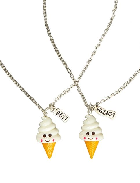 justice friendship necklaces also found a ton of cute