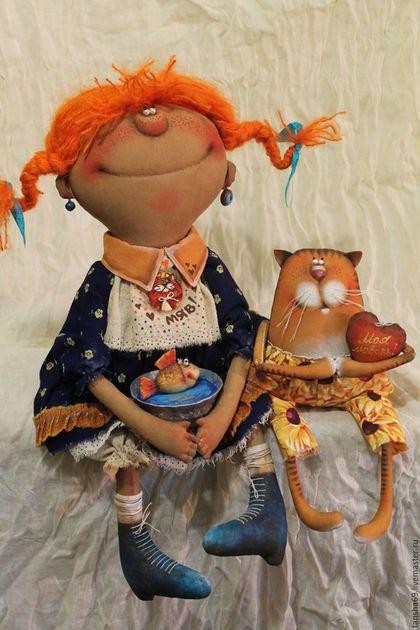 Коллекционные куклы ручной работы. Ярмарка Мастеров - ручная работа. Купить Три желанья.... Handmade. Комбинированный, ткань