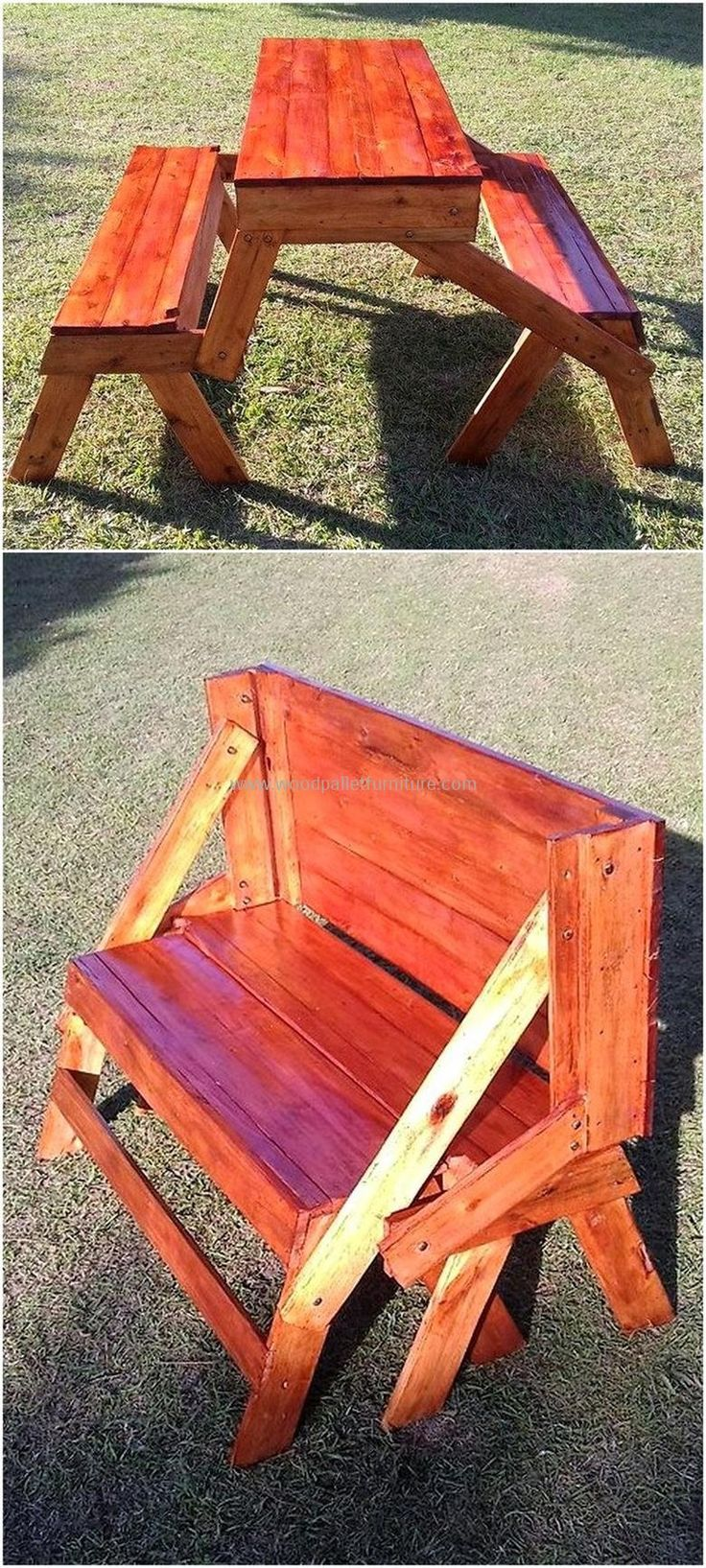 pallet picnic table cum bench