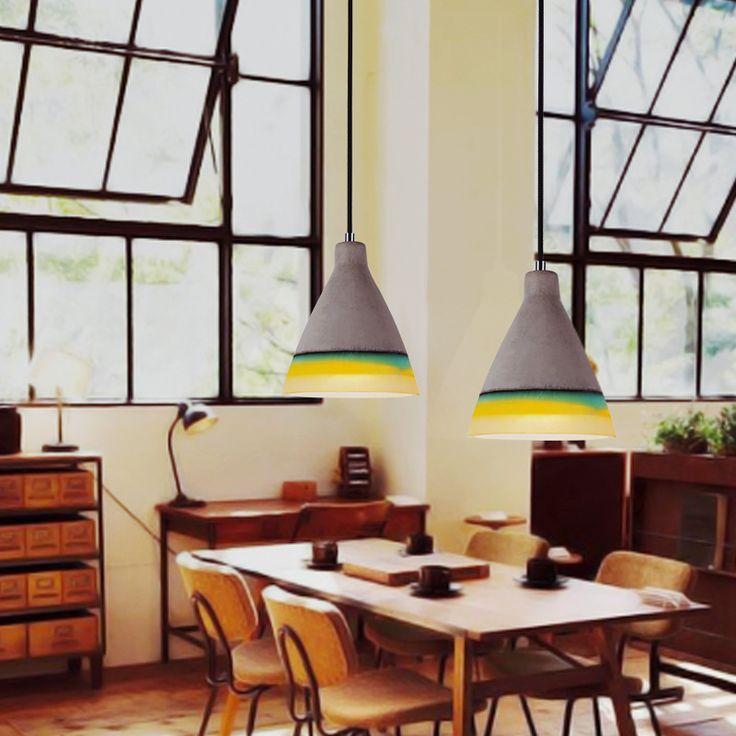 Промышленные Ретро Цемент Кулон Личность Творческая Освещение Лофт Дизайнерские Подвесные Лампы Бар Ресторан Лампы A181купить в магазине Y3 lighting StoreнаAliExpress