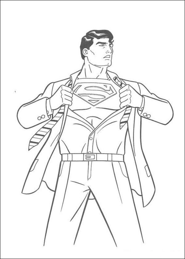 Superman coloring page 17