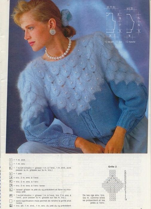Красивый узор для пуловера. Обсуждение на LiveInternet - Российский Сервис Онлайн-Дневников