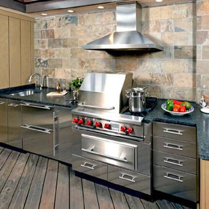 Stainless Steel Cabinets By Danver And Stainless Appliances, Grill And  Range Hood Give This Outdoor