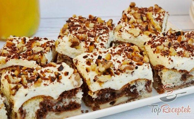 Tejfölös-tejszínes-pudingos sütemény