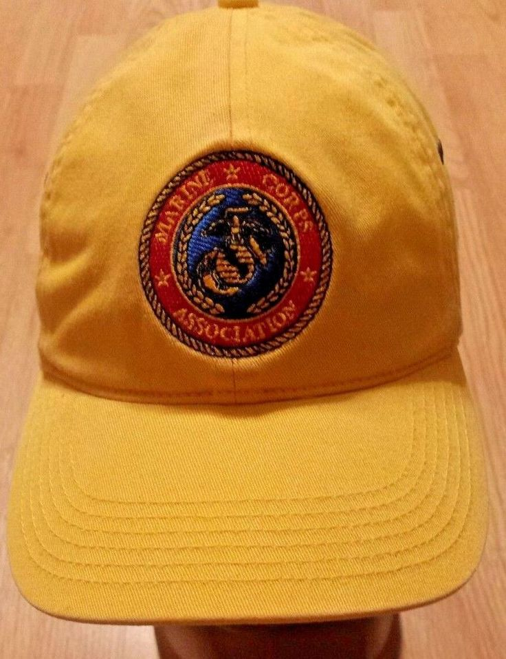 MARINE CORPS ASSOCIATION HAT yellow by Richardson Casual