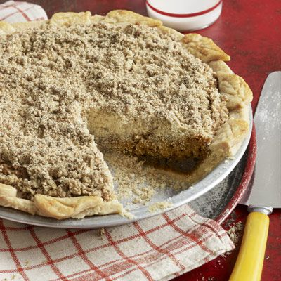 Shoofly Pie - Back in the late 18th century, enterprising Pennsylvania-Dutch cooks baked this rich molasses pie whenever fruit was in short supply.  Today, the family-owned Bird-in-Hand Bakery in Lancaster County, Pa., carries on the tradition, having served its own delicious version to fans for nearly 40 years.