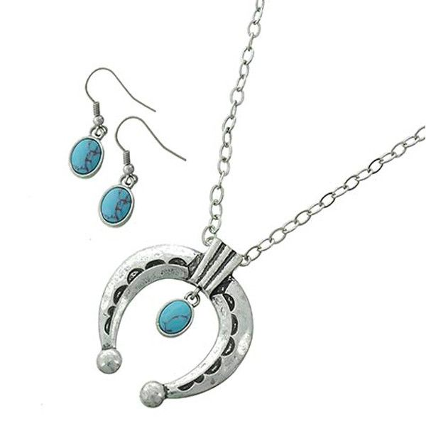 Route 66 Necklace & Earrings