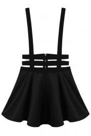 Punk A-Line Suspender Skirt. Black. Hipster. Punk. Fashion. Simple