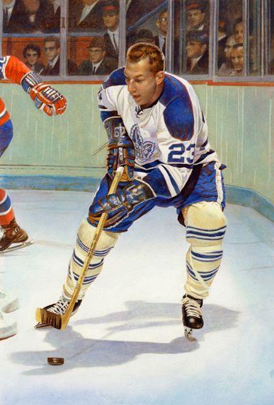 Eddie Shack, Toronto Maple Leafs by Chuck Gillies