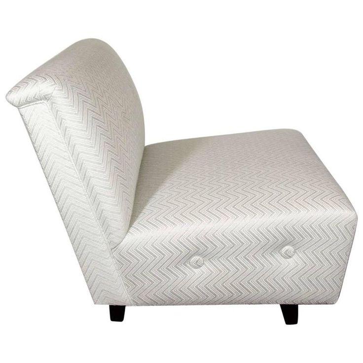 Glamorous Art Deco Slipper Chair Attributed to Gilbert Rohde   1stdibs.com