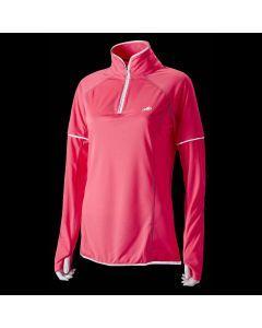 Hi Viz Womens L/S Zip Top in Pink