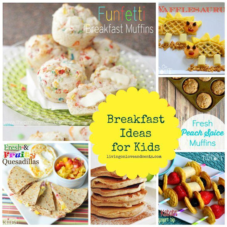 30 School Morning Breakfast Ideas for Kids #backtoschool #kids #breakfast