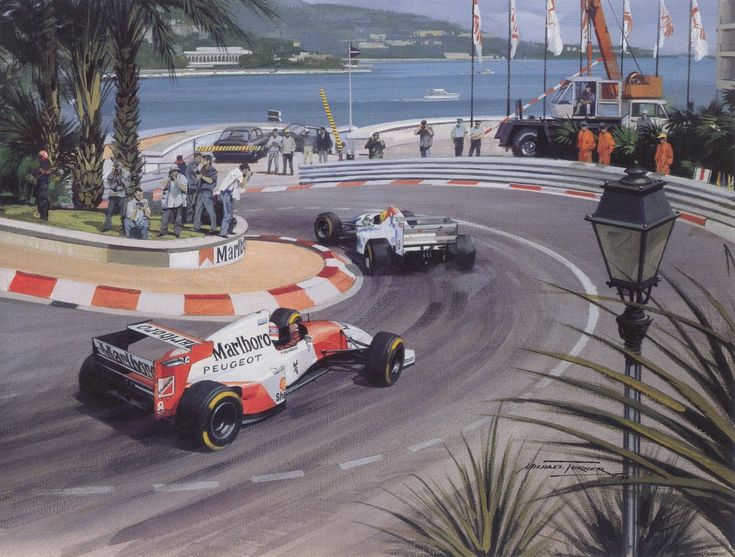 Michael Turner (b.1934) —  1994 Schumacher Wins Subdued Monaco gp (1024×776)
