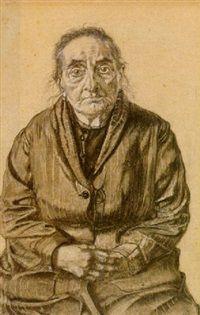 De grootmoeder ven de schilder by Dick Ket