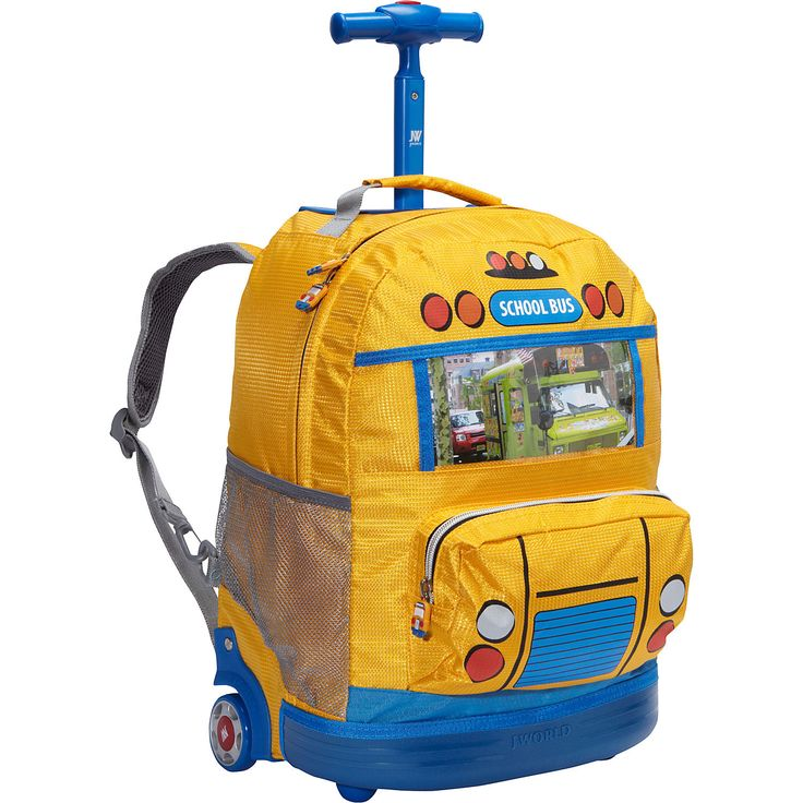 Buy the J World New York School Bus Kids Rolling Backpack (Kids ages 4-8) at…