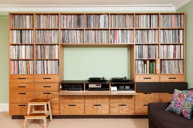 Beautiful custom-built record shelving unit                                                                                                                                                                                 More