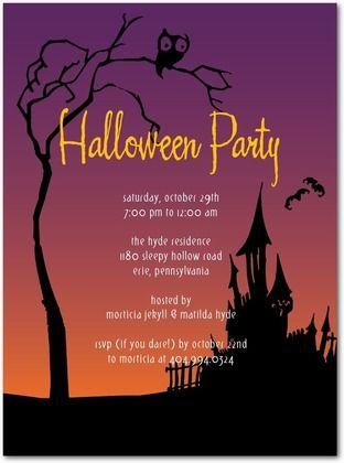 20 best halloween party invitation templates images on pinterest haunted lane halloween party invitations sarah hawkins designs amethyst purple front stopboris Images