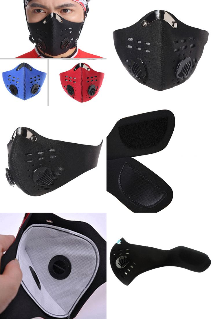 [Visit to Buy] Bike Bicycle Mask Trending Cycling Face Masks With Filter Half face Carbon Bicycles bike Training Mask Mascarilla Polvo #Advertisement