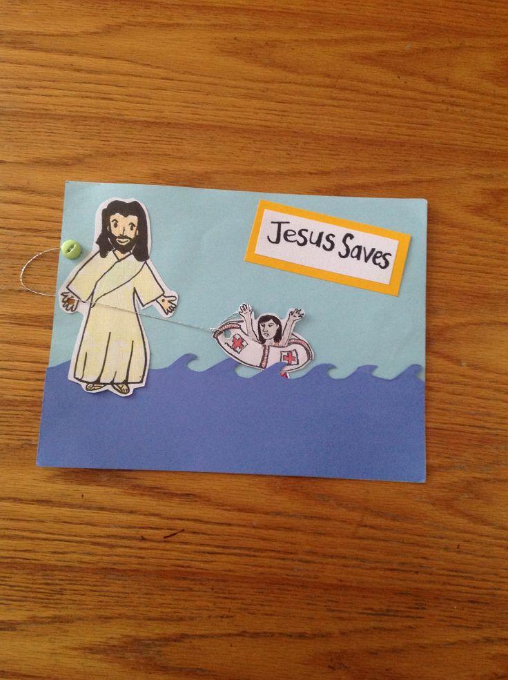 Jesus Saves Bible Craft