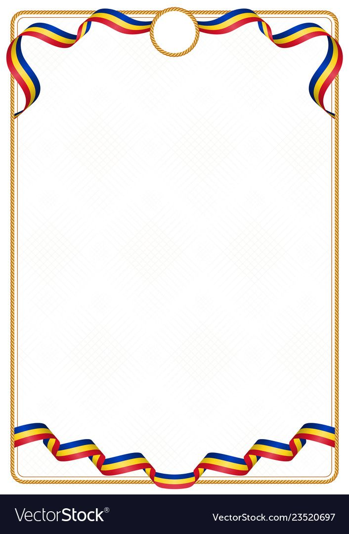 Frame And Border Of Ribbon With The Colors Of The Romania Flag Template Elements For Your Certificat Flag Vector Certificate Design Template Graffiti Alphabet