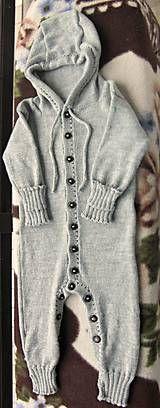 Detské oblečenie - Pletený overal z Merino Baby Drops - 5832837_
