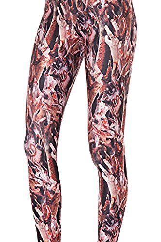 QZUnique-Womens-Classic-Retro-Printed-Pattern-Ankle-Length-Elastic-Tights-Leggings