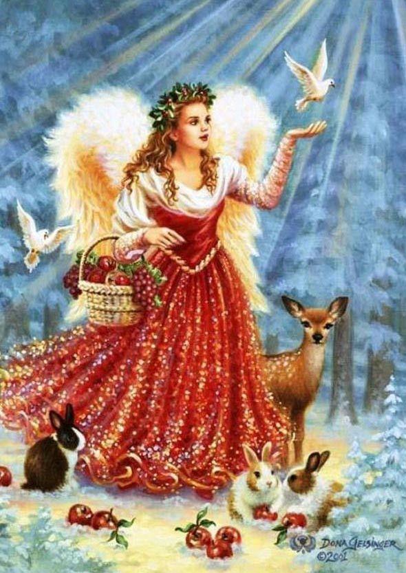 Christmas Card Angel Wings