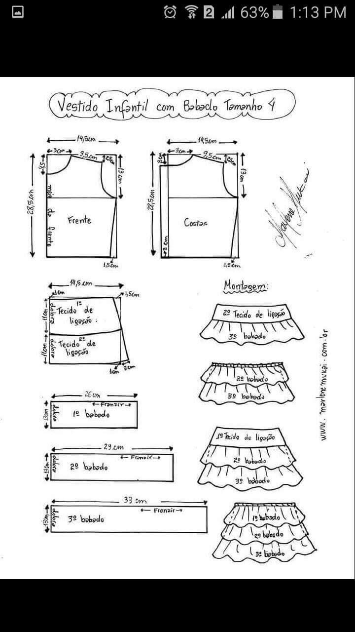 71 best moda infantil images on Pinterest | Sewing patterns, Kids ...
